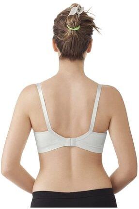 Akdağ Sportswear Toparlayıcı Dikişsiz Tek Katlı Minimizer Beyaz Emzirme Sütyeni 3