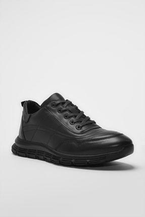 Hotiç Hakiki Deri Siyah Erkek Sneaker 02AYH194460A480 2