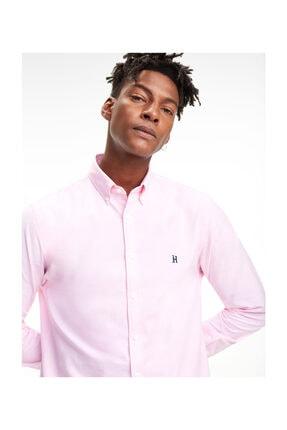 Tommy Hilfiger Erkek Pembe Gömlek Lh Icon Oxford Shırt MW0MW09398 0