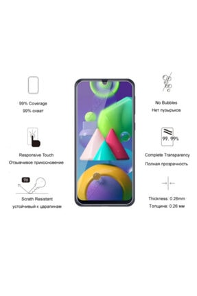 Zore Samsung Galaxy M31 Temperli Kırılmaz Cam Ekran Koruyucu Film 4