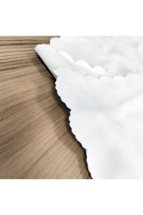 Realhomes Tek Kanat Yağlı Boya Mavi Ağaç Motifleri Dijital Baskılı Salon Fon Perdesi 2