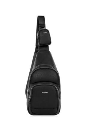 Cengiz Pakel Unisex Crossbody Çanta 7287-siyah 0