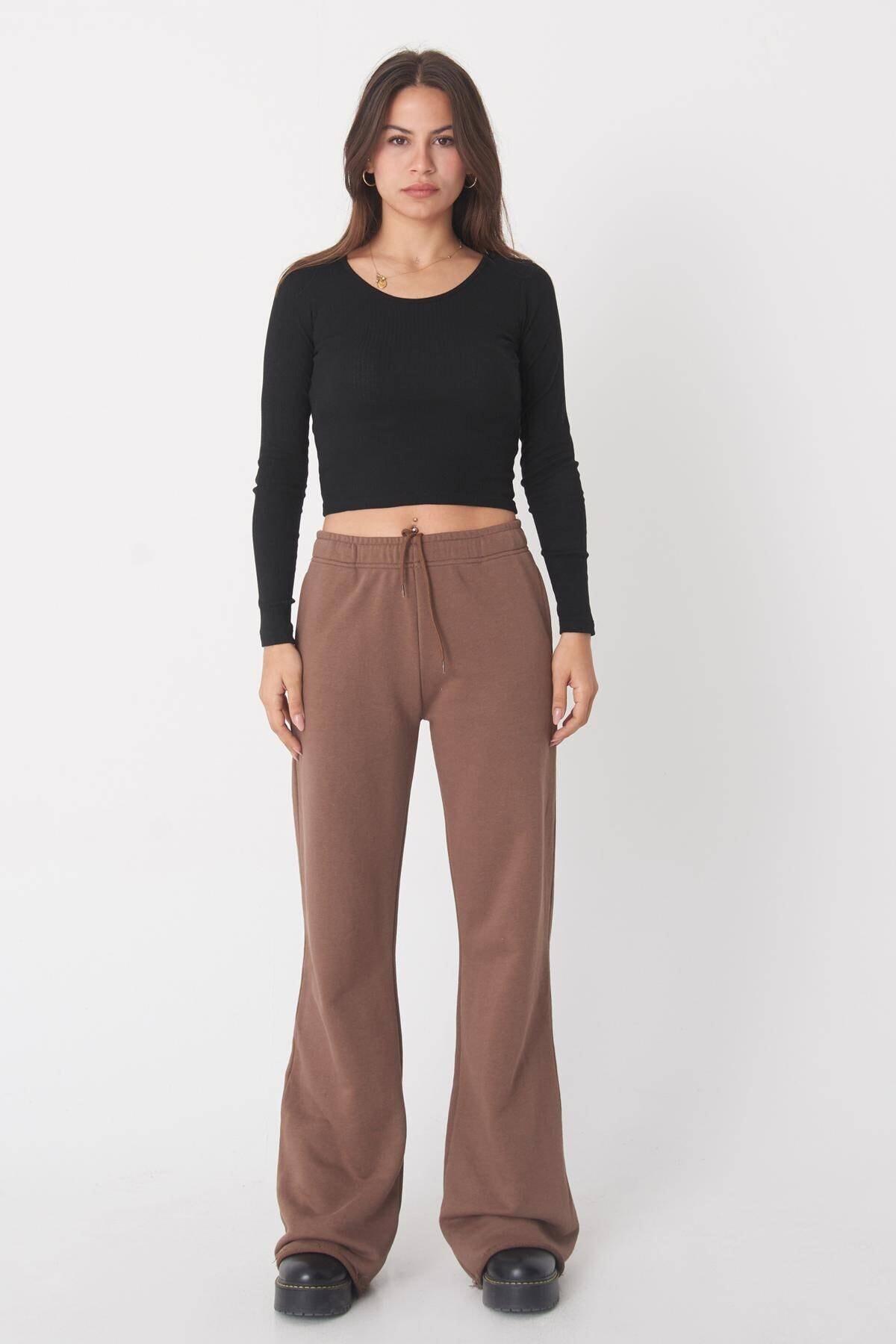 Addax Kadın Siyah Uzun Kollu Bluz B1069 - W12 Adx-0000023026 4