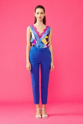 adL Kadın Saks Arkası Lastikli Pantolon 2