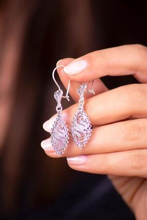 Sümer Telkari Kadın Telkari İşlemeli Antik Tasarım Gümüş Küpe 2586 1