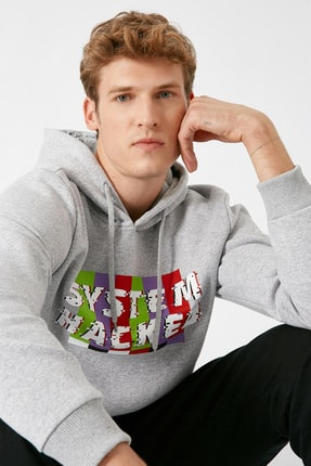 Koton Erkek Gri Sweatshirt 1KAM71115DK 0