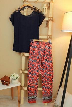 Feyza Pijama Kadın Lacivert Pijama Takımı 0