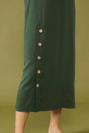 adL Kadın Yeşil Yırtmaçlı Elbise 3