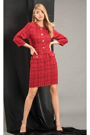 THE NUQUELLA Kadın Kırmızı Kumaş Elbise 0