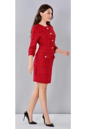 THE NUQUELLA Kadın Kırmızı Kumaş Elbise 2