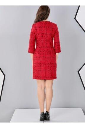 THE NUQUELLA Kadın Kırmızı Kumaş Elbise 3