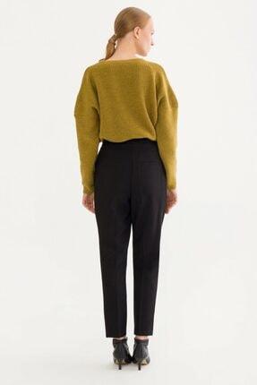 adL Kadın Siyah Düğmeli Pantolon 15338031000001 4