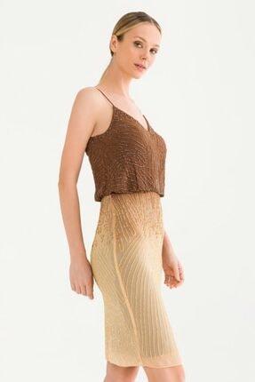 adL Kadın Kahverengi Askılı Elbise 12437898000010 2