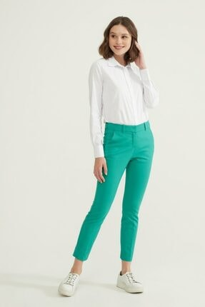 adL Kadın Yeşil Cepli Pantolon 1