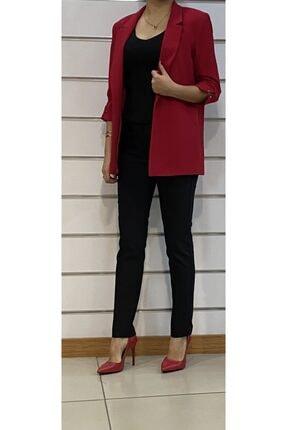 SİSLİNE Kadın Kırmızı Ceket 0