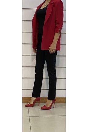 SİSLİNE Kadın Kırmızı Ceket 1