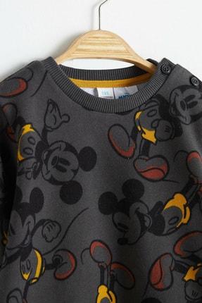 LC Waikiki Mickey Mouse Erkek Bebek Antrasit Baskılı Lq9 Alt-Üst Takım 2