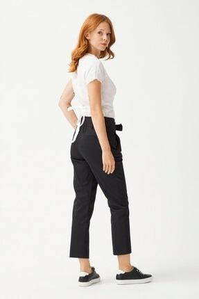 adL Kadın Siyah Düğmeli Pantolon 4