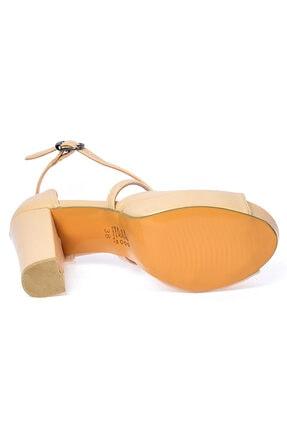 Ayakland Kadın Ten Cilt Abiye 11 cm Platform Topuk Ayakkabı 3210-2058 4