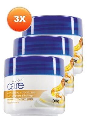 Avon Care Yoğurt Ve Bal Özlü Yüz Kremi 100 Ml. Üçlü Set 0