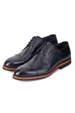 Cabani Erkek Siyah Klasik Antik Deri Ayakkabı 4