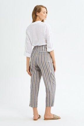 adL Kadın Camel Pileli Keten Pantolon 3