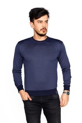 BESSA Erkek Indigo Bisiklet Yaka Mikro Polyester Likralı  Sweatshirt 0