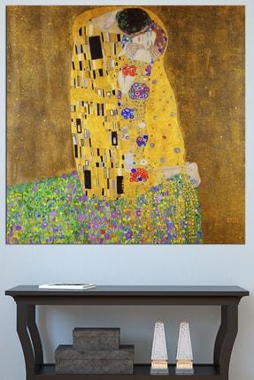 Nazenin Design Gustav Klımt The Kiss Öpücük Dev Boyut Kanvas Tablo 140x140 cm 0
