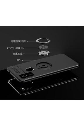 Fibaks Samsung Galaxy M51 Metal Yüzüklü Standlı Shockproof Yumuşak Silikon Kılıf 2