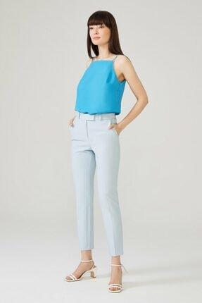 adL Kadın Mavi Arkası Lastikli Pantolon 0