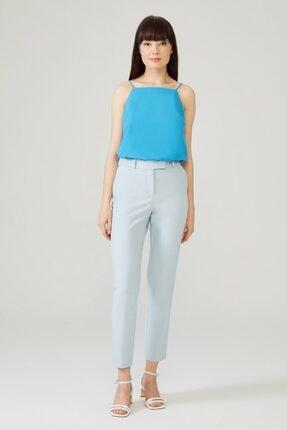 adL Kadın Mavi Arkası Lastikli Pantolon 1