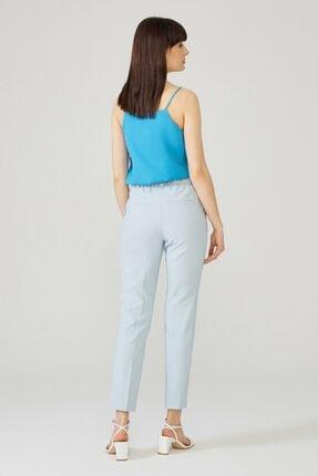 adL Kadın Mavi Arkası Lastikli Pantolon 3
