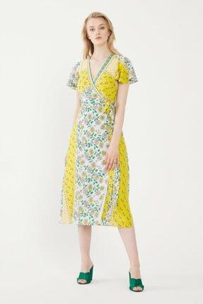 Kadın Lime Kruvaze Elbise resmi