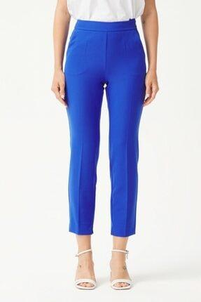adL Kadın K.Saks Yandan Fermuarlı Pantolon 1