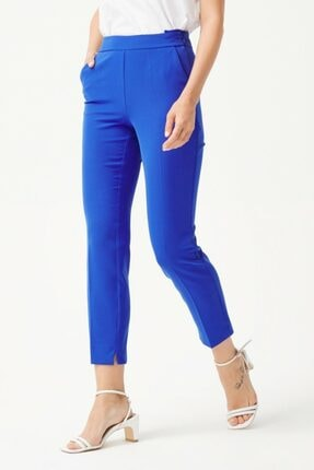 adL Kadın K.Saks Yandan Fermuarlı Pantolon 2