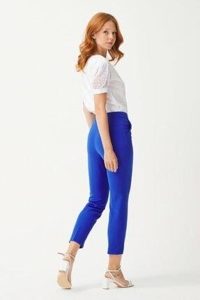 adL Kadın K.Saks Yandan Fermuarlı Pantolon 3