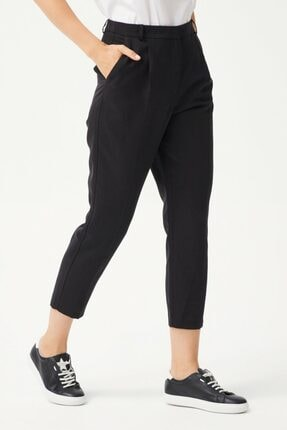 adL Kadın Siyah Pileli Pantolon 1