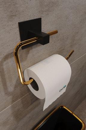 Bino Gold Paslanmaz Çelik Wc Kağıtlık Tuvalet Kağıtlığı Tuvalet Kağıdı Askısı Yapışkanlı Tasarım 0