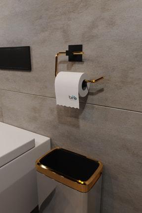 Bino Gold Paslanmaz Çelik Wc Kağıtlık Tuvalet Kağıtlığı Tuvalet Kağıdı Askısı Yapışkanlı Tasarım 1