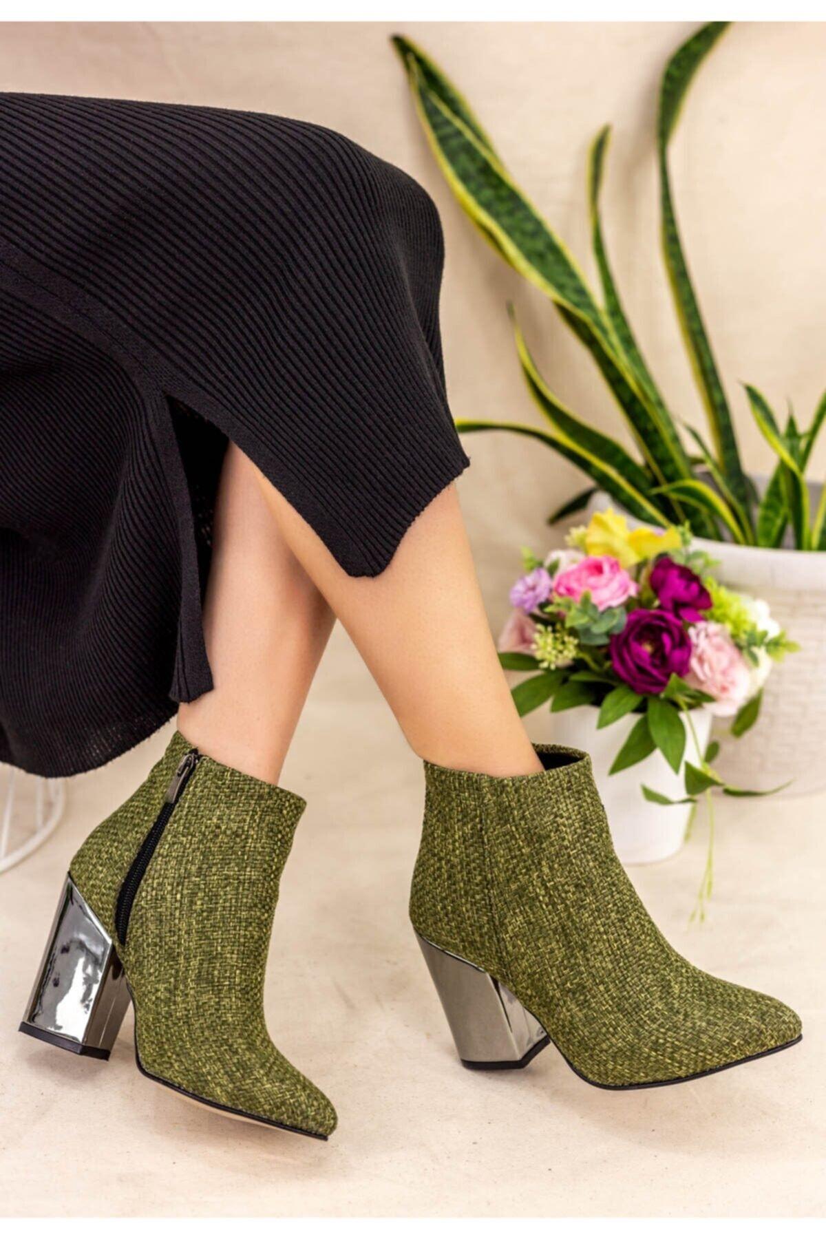 Erbilden Kadın Yeşil Adrina Topuklu Bot