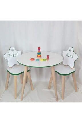 All dizayn Çocuk Masa Ve Sandalye Takımı, 1 Yuvarlak Masa - 2 Yıldız Sandalye 0