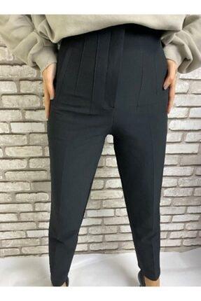 Gizline Kadın Siyah Pensli Pantolon 1