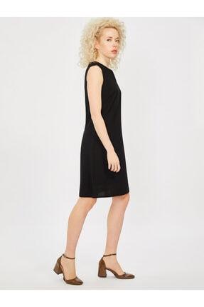 Vekem Kadın Siyah Kolsuz Klasik Kesim Krep Elbise 3