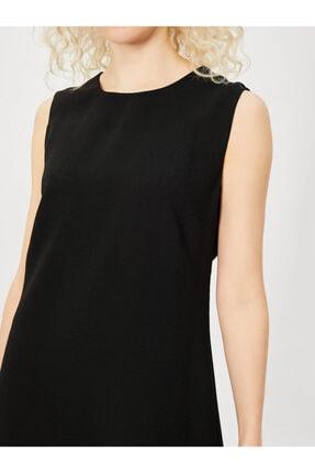 Vekem Kadın Siyah Kolsuz Klasik Kesim Krep Elbise 4