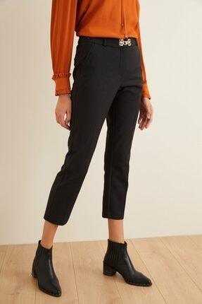 adL Kadın Siyah Düşük Bel Cepli Pantolon 3