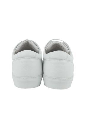 CZ London Erkek Beyaz Hakiki Deri Sneaker Spor Ayakkabı 2