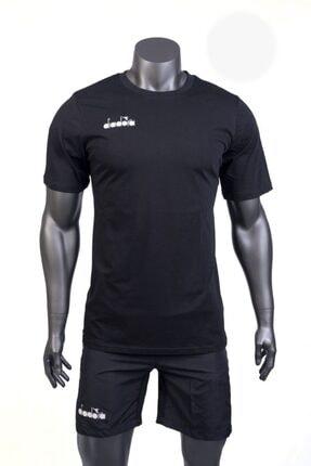 تصویر از Erkek Siyah Sıfır Yaka Düz Renk Antrenman Forma