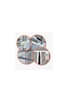 Vivense Gri Prado Stark Xtra Çift Yandan Raflı Çelik Profilli Bez Dolap 3