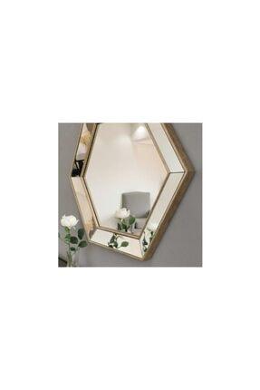 Vivense Neostill- 3lü Dekoratif Ayna Altıgen Duvar Salon Boy 3a405 3