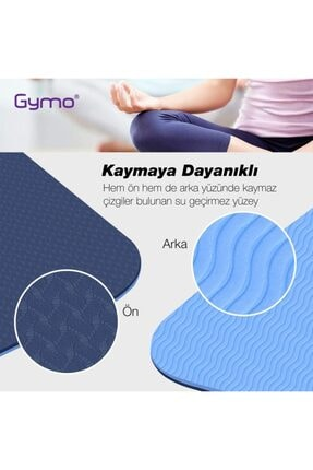 Gymo Ekolojik 6mm Tpe Yoga Matı Pilates Minderi Mürdüm 1